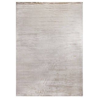 Exquisite Rugs High Low Light Beige Viscose Rug (12' x 15') - 12' x 15'