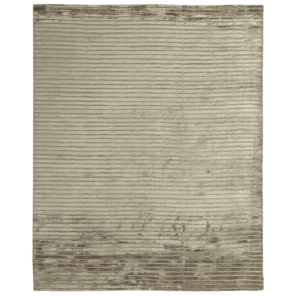 Exquisite Rugs High Low Dark Beige Viscose Rug (12' x 15')