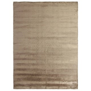 Exquisite Rugs Herringbone Khaki Viscose Rug (12' x 15')