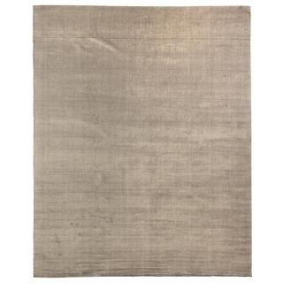Exquisite Rugs Herringbone Dark Grey Viscose Rug (12' x 15')