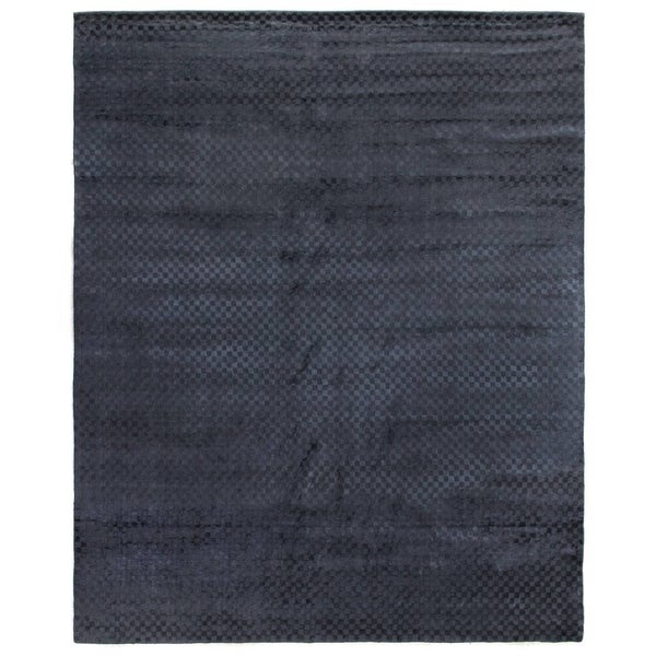 Exquisite Rugs Board Navy Viscose Rug - 12' x 15'