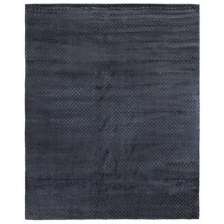 Exquisite Rugs Board Navy Viscose Rug (12' X 15')