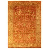 Exquisite Rugs Sultanabad Rust New Zealand Wool Rug (12' x 15')