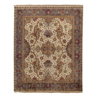 Exquisite Rugs European Polonaise Ivory New Zealand Wool Rug (12' x 15')