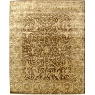 Exquisite Rugs Sultanabad Tobacco/Beige New Zealand Wool Rug (12' x 15')