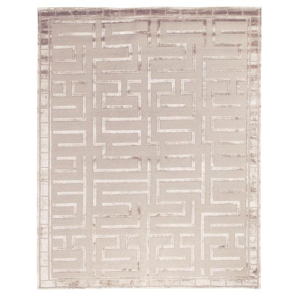 Exquisite Rugs Metro Velvet Beige Wool/Art Silk Rug (12u0027 X ...