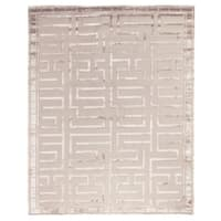 Exquisite Rugs Metro Velvet Beige New Zealand Wool and Viscose Rug (12' x 15') - 12' x 15'