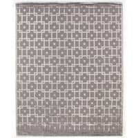 Exquisite Rugs Metro Velvet Silver New Zealand Wool and Viscose Rug - 12' x 15'