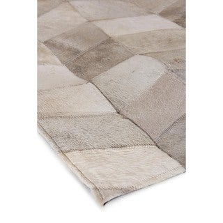 Exquisite Rugs Natural Ivory Hair-on Leather Rug, (11'6 x 14'6)