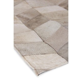 Exquisite Rugs Natural Ivory Hair-on Leather Rug, - 11'6 x 14'6