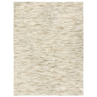 Exquisite Rugs Stitched Blocks Multicolor Leather Hair-on Hide Rug (11'6 x 14'6)