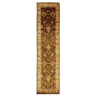 Exquisite Rugs Ziegler Beige/Ivory New Zealand Wool Runner Rug (6' x 12')