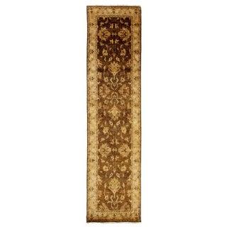 Exquisite Rugs Ziegler Beige / Ivory New Zealand Wool Runner Rug - 6' x 12'