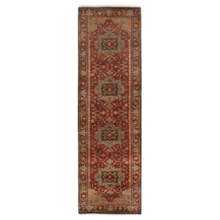 Exquisite Rugs Serapi Red New Zealand Wool Runner Rug - 2'6 x 8'