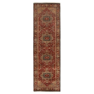 Exquisite Rugs Serapi Red New Zealand Wool Runner (2'6 x 20')