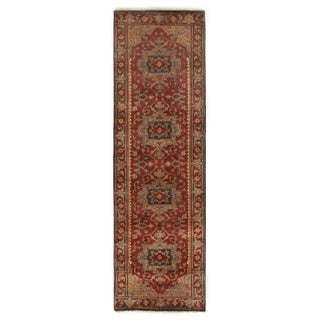Exquisite Rugs Serapi Red New Zealand Wool Runner Rug (2'6 x 20' Runner) - 2'6 x 20'