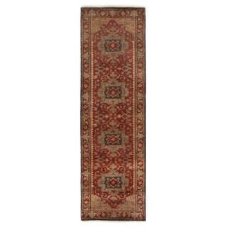 Exquisite Rugs Serapi Red New Zealand Wool Runner Rug (2'6 x 20')