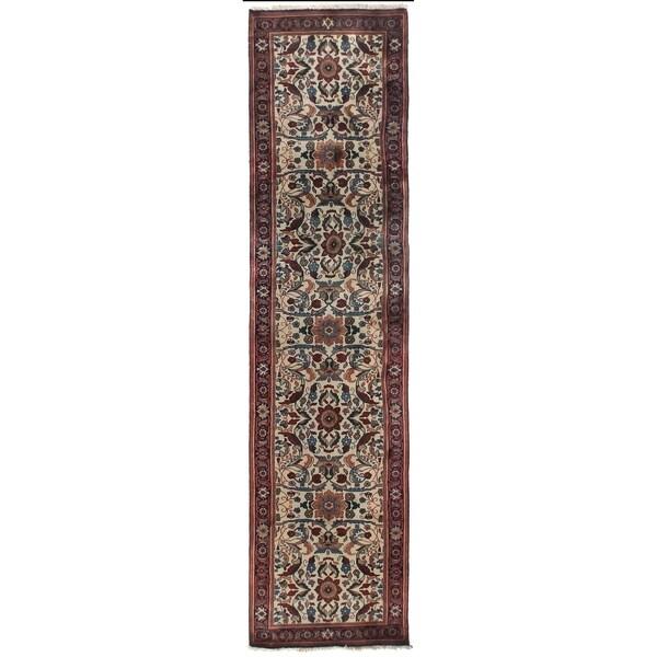 Exquisite Rugs Ferahan Ivory Handspun Wool Runner Rug - 2'6 x 19'