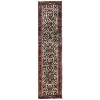 Exquisite Rugs Ferahan Ivory Handspun Wool Runner Rug (2'6 x 19')
