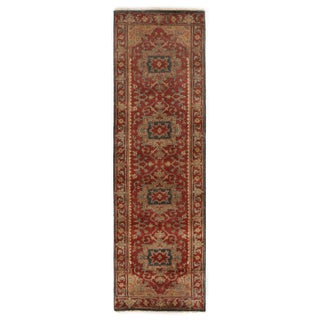Exquisite Rugs Serapi Red New Zealand Wool Runner Rug (2'6 x 18' Runner) - 2'6 x 18'