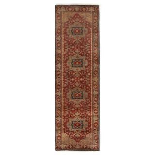 Exquisite Rugs Serapi Red New Zealand Wool Runner Rug (2'6 x 18')