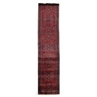 Exquisite Rugs Sarouk Rose/Sage New Zealand Wool Runner Rug (2'6 x 12')