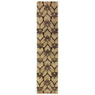 Exquisite Rugs Metropolitan Chocolate New Zealand Wool Runner Rug (2'6 x 12' Runner) - 2'6 x 12'