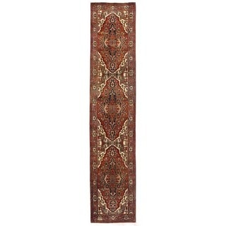 Exquisite Rugs Serapi Red New Zealand Wool Runner Rug (2'6 x 10')