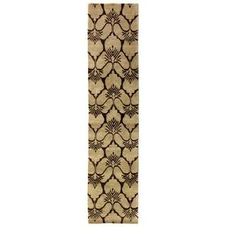 Exquisite Rugs Metropolitan Chocolate New Zealand Wool Runner Rug (2'6 x 10')