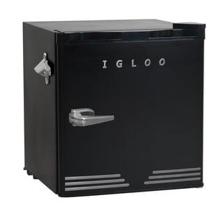 Igloo Retro Compact Fridge with Bottle Opener, Black