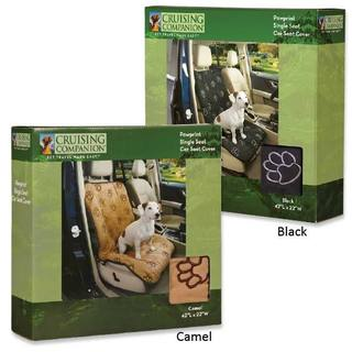 Cruising Companion Tan Paw Print Single Car Seat Cover