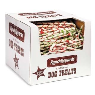 Ranch Rewards 8-inch Rawhide Candy Cane (Case of 250)
