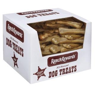 Ranch Rewards Natural 6-inch Press Rawhide Bones (Case of 90)