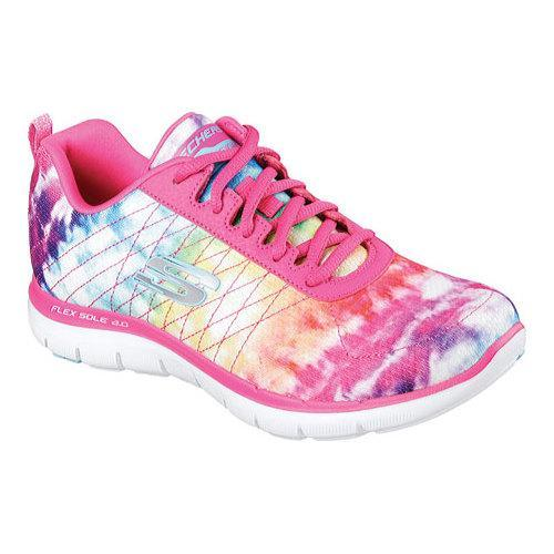 e4bd15785df2 Shop Women s Skechers Flex Appeal 2.0 Loud and Clear Training Shoe Pink  Multi - Free Shipping Today - Overstock - 12081239
