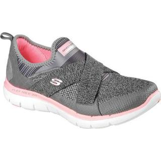 Women's Skechers Flex Appeal 2.0 New Image Walking Shoe Charcoal/Coral