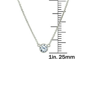 "Antwerp's 14k Gold ""Wonder"" 0.13ct Round Brilliant Solitaire Diamond Necklace"
