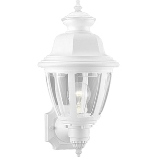 Progress Lighting White Acrylic Incandescent One-light Wall Lantern