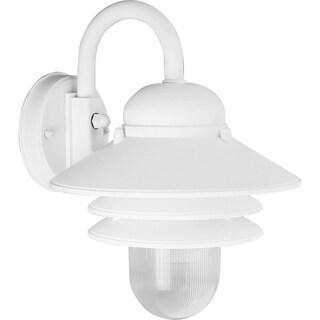 Progress Lighting Newport White Finish One-Light Wall Lantern