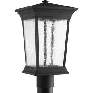 Progress Lighting Black Finish One-Light 9-inch Post Lantern with AC LED Module