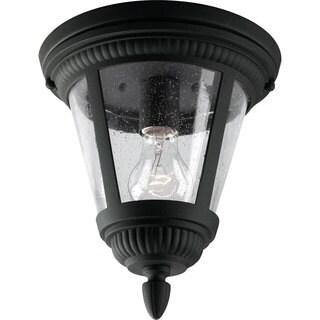 Progress Lighting P3883-31 Westport Black Aluminum 1-light Close-to-ceiling Fixture