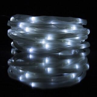 pure garden 32foot solar led rope light 100 white led lights