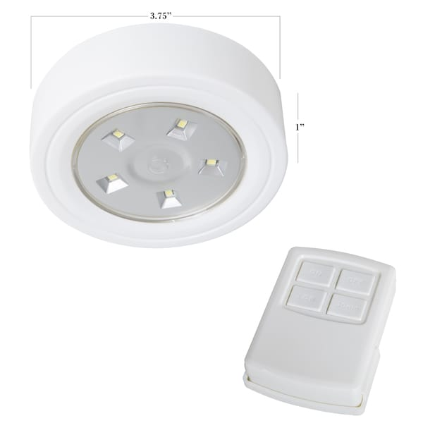 Lavish Home 5 LED Portable Puck And Ceiling Light With Remote Control    Free Shipping On Orders Over $45   Overstock.com   18950043