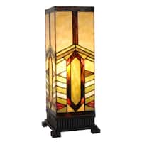 River of Goods Stained Glass Stone Mountain Accent Uplight Lamp