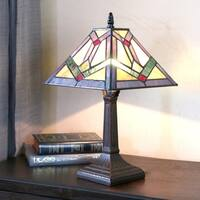 Carbon Loft Turing 15.25-inch Stained Glass Accent Lamp