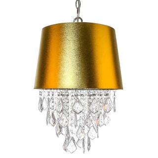 River of Goods Shimmering Jewels Goldtone Acrylic 19-inch Hanging Lamp