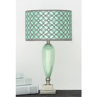Casa Cortes Vanessa Glass and Fabric Table Lamp