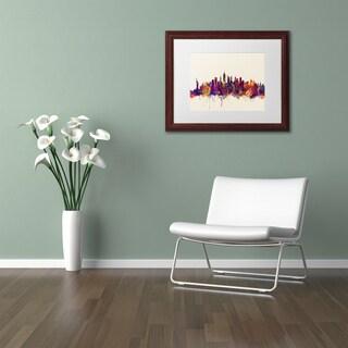 Michael Tompsett 'New York City Skyline' Matted Framed Art