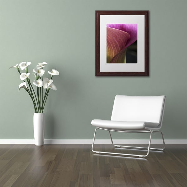 Kurt Shaffer 'Part of a Calla Lily' Matted Framed Art