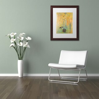 Pat Saunders-White 'Tropical Island' Matted Framed Art