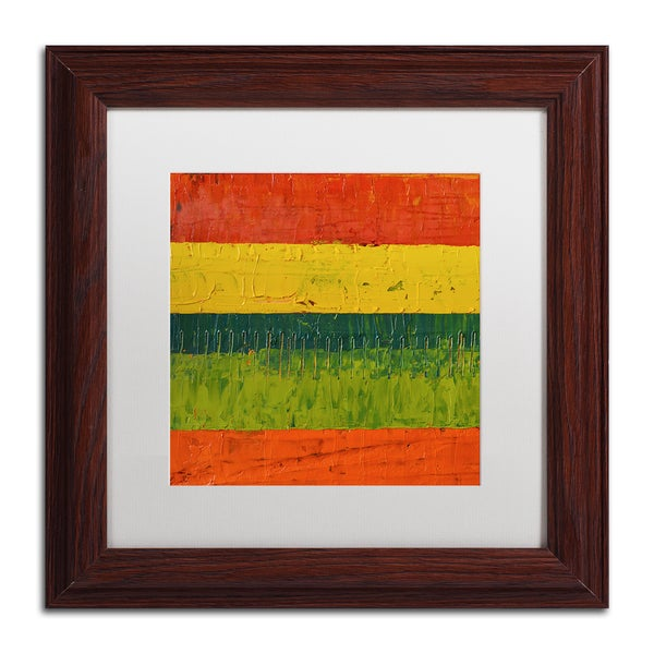 Michelle Calkins 'Fence' Matted Framed Art